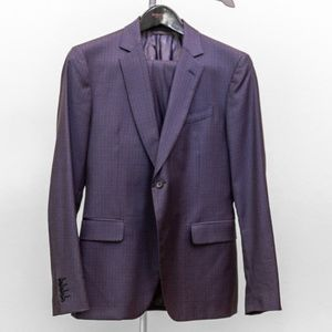 John Varvatos Mens Blue Slim Fit Suit